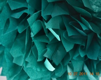 1 LARGE TEAL - Pom Pom kit- tissue paper poms // diy // wedding decoration // baby shower // party decor