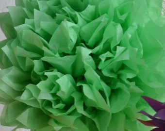 1 SMALL LIME- Pom Pom kit- tissue paper poms // diy // wedding decoration // baby shower // party decor