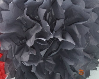 1 MEDIUM BLACK- Pom Pom kit- tissue paper poms // diy // wedding decoration // baby shower // party decor