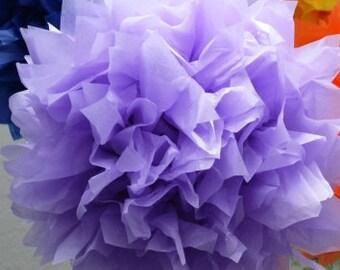 1 MEDIUM LAVENDER- Pom Pom kit- tissue paper poms // diy // wedding decoration // baby shower // party decor