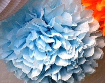 1 LARGE Lite Blue- Pom Pom kit- tissue paper poms // diy // wedding decoration // baby shower // party decor
