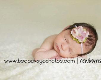 Baby Headband - Flower Headband - Newborn Baby headband - Infant Headband - Photography Prop - vintage flower