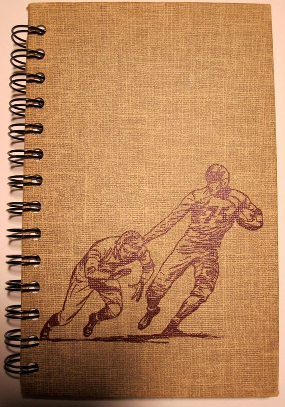 Blank Journal Made From Vintage Football Book
