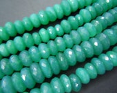 Green Onyx Gemstone Faceted Rondelle Beads AAA Quality 8'' size- 8 to 10mm approx wholesale price