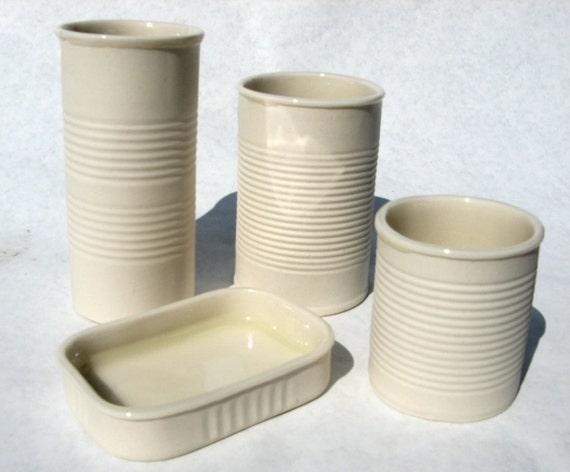 Complete Porcelain Can Set