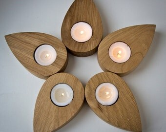 Candle holder - Droplets of a flower - salvaged ash tree droplets shaped articles which you can use to create any shape