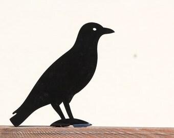 Garden decor metal scarecrow - Crow - // garden decor // Halloween // FREE SHIPPING