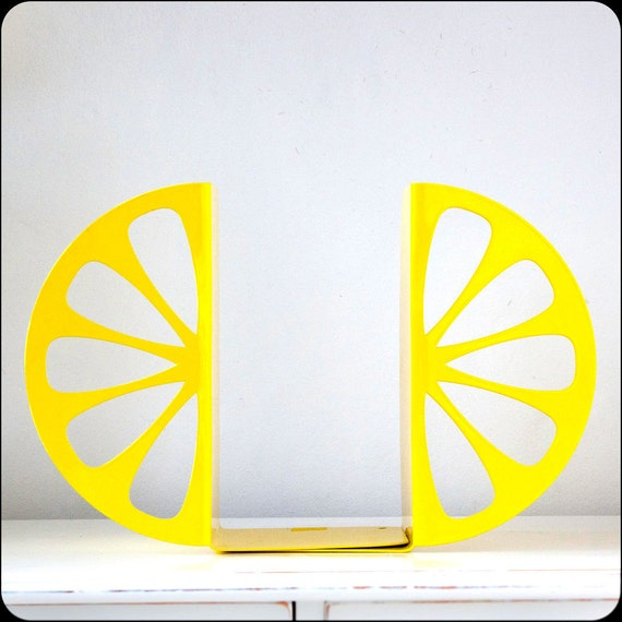 Kitchen Bookends: Bookends FREE WORLDWIDE SHIPPING Lemon By DesignAtelierArticle