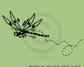 Dragonfly II - wall decal