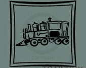 Train Engine with box frame - wall decal