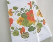 2 Vintage 1970s Paper Table Cloth New in Package Autumn Flowers