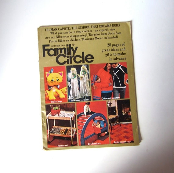 Vintage 1960s Family Circle Magazine - October 1968