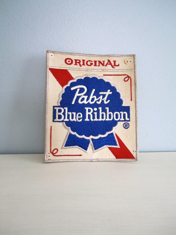 Vintage 1970s Pabst Blue Ribbon Pbr Large Jacket Patch