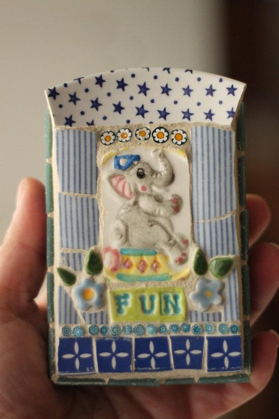 Fun Elephant Mosaic