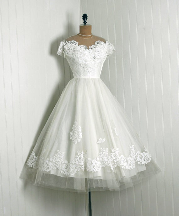 Wedding Dresses Boston: REDUCED1950's Vintage Priscilla Of Boston
