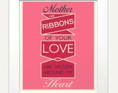 Mothers Love Quote print poster - 11x14