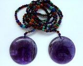 Lucy Sautoir - amethyst healing cookies mature necklace