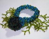 Blue and Green Twig Bracelet