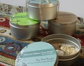 Set of all 3 100% Organic Herbal Face Masks - Made When Ordered & Sold Individually