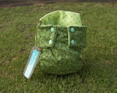 Green Jungle Leaf Pocket Cloth Nappy (Diaper)