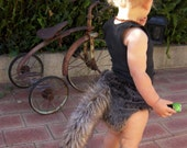 Wolf Premium Faux Fur Cloth Nappy with Removable Tail