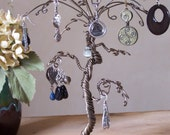 Jewelry Tree Holder Organizer and Display - Whimsical Palm Tree