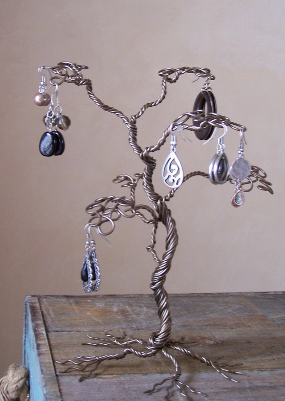 Tropical Jewelry Tree Stand Wire Earring Display And