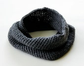 Charcoal Gray Cowl Scarf