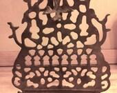 Rare Jewish Morrocan Oil Burning Menorah