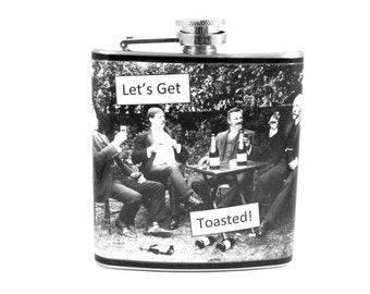 Groomsmen Flask : Let's Get Toasted