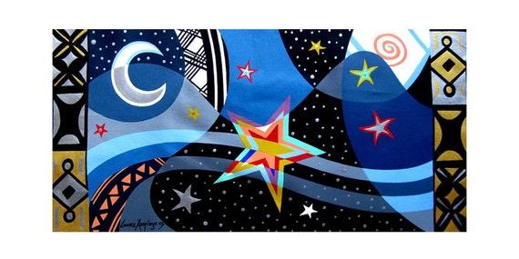 "ORIGINAL Acrylic on Canvas STARLIGHT 23.5"" X 11.5"""