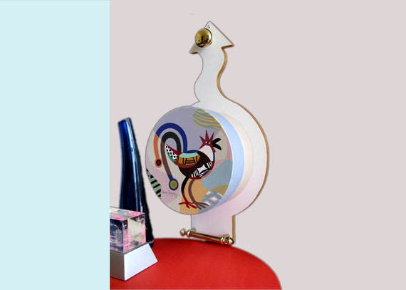 Original Painting Scupture Rooster - Pop Art Cubist Rooster Sculpture Painting