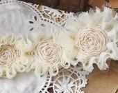 Beige Chiffon Leaves Wedding Dress Lace Trim DIY Fabric Crafts Alterations Supplies Headware Custume 2Yards