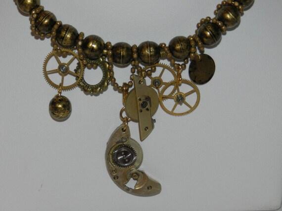 Hand Made Necklace Steam Punk Watch