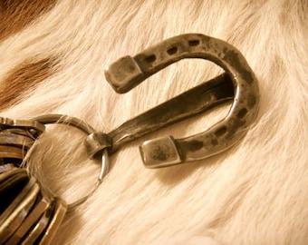 Hand-Forged Horseshoe Key Ring