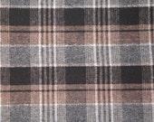 Black, Tan, Grey, White Wool plaid yardage