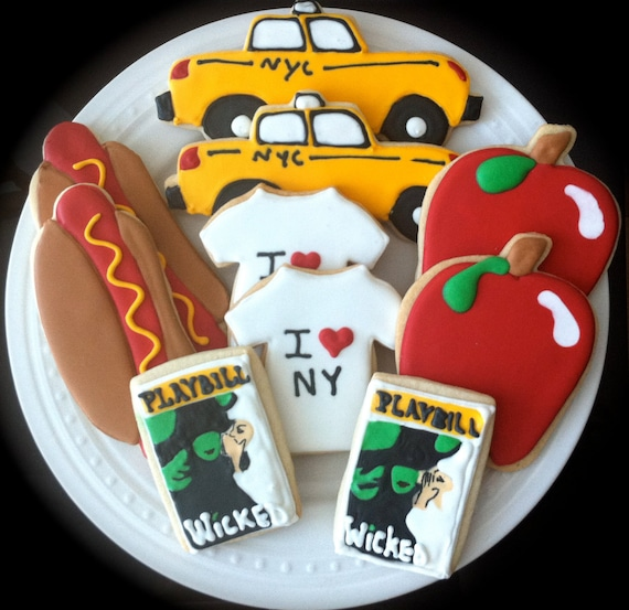 Items Similar To Decorated New York City Cookies- I Heart