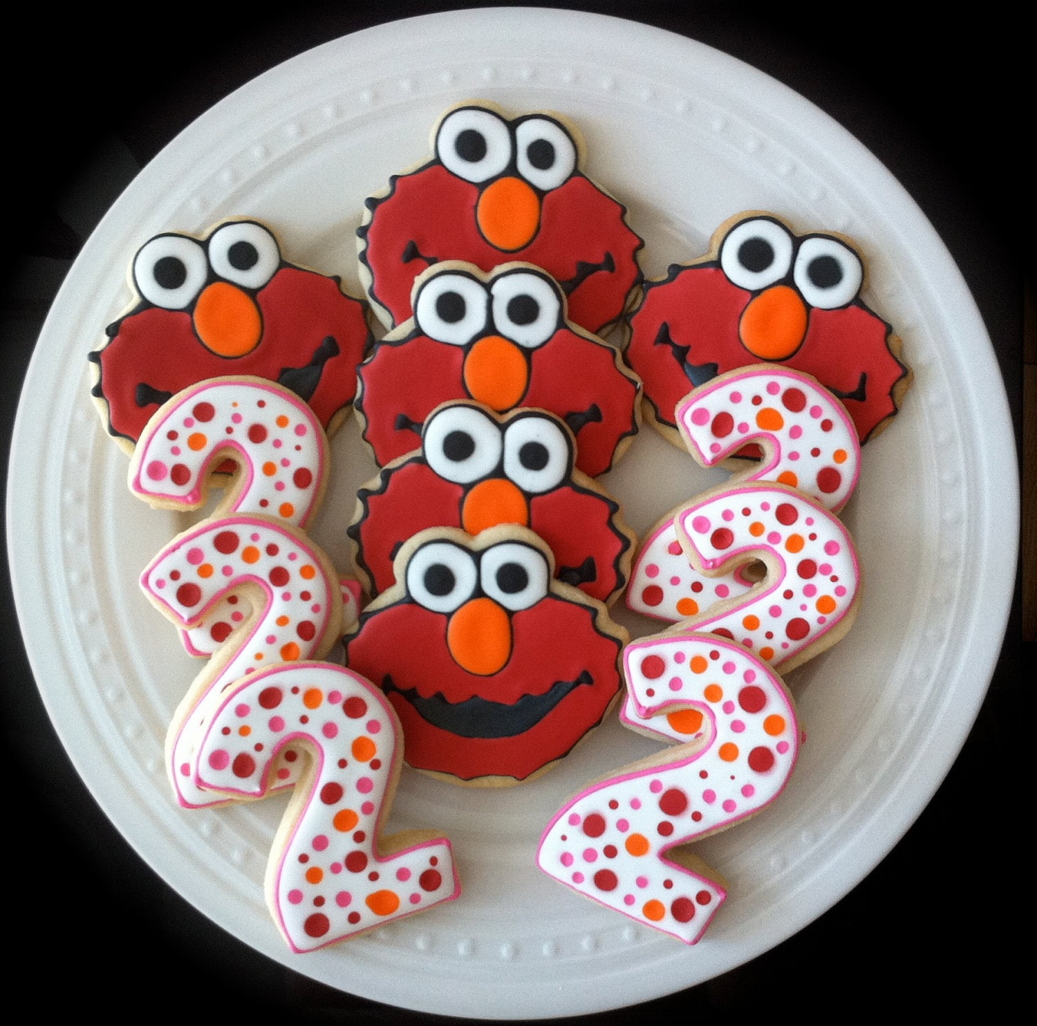 Items Similar To Decorated Custom Elmo And Pink Number
