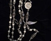 Stunning White Howlite Rosary (This Rosary is reserved for AnglicanMonk. Please do not purchase it unless you are him:).