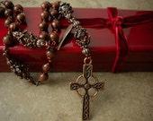 Anglican Gorgeous Mahogany Obsidian Rosary