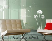 Dandelion -Vinyl wall sticker- wall decal- tree decals- wall murals art- nursery wall decals- Nature- Children- Tree S111