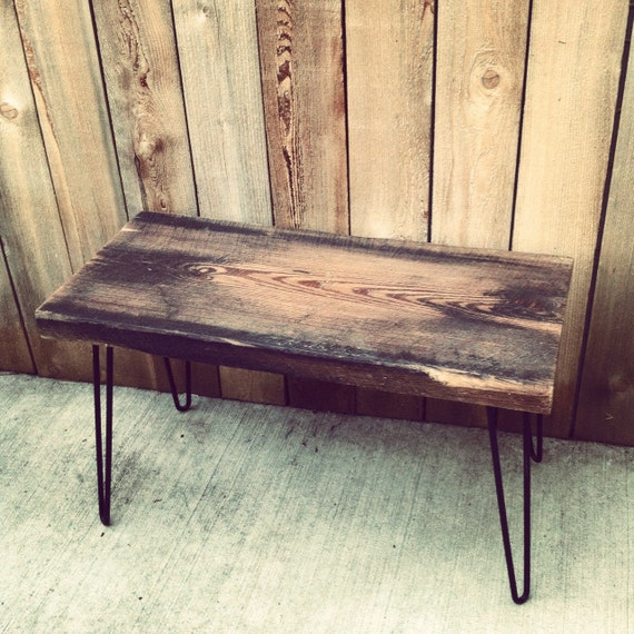 SALE - Reclaimed Wood Bench w/ Hairpin Legs