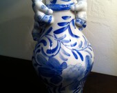 Vintage Blue and White decorative vase
