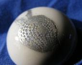 Porcelain, 'Fossil' Brooch