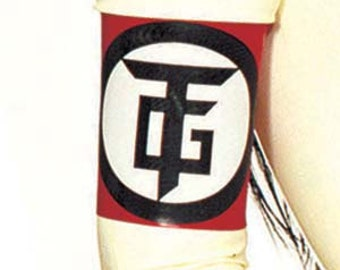 TG Logo Latex Rubber Armband from Torture Garden Clothing