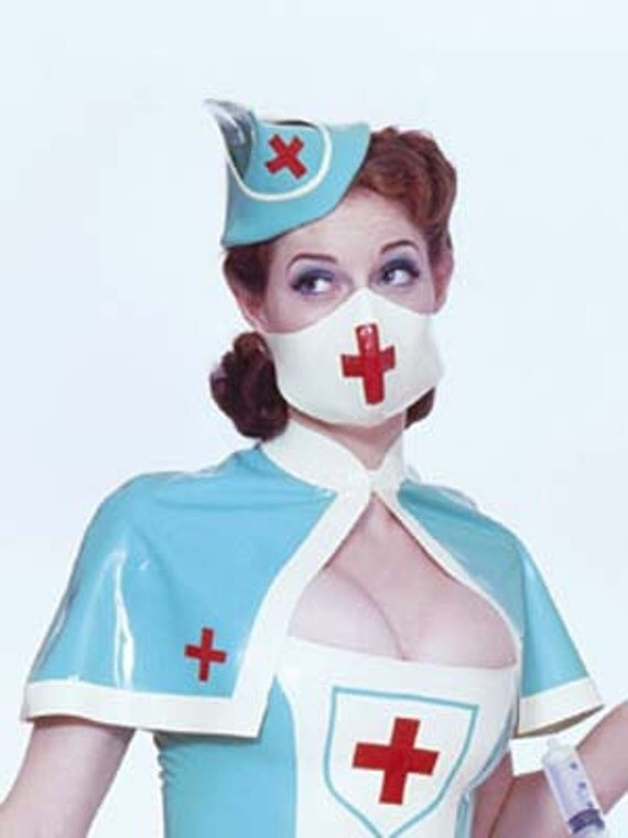 TG MILITARY NURSE Latex Rubber Mask by HOUSEofHARLOT on Etsy