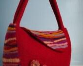 Felted Purse Bag Redjena small handbag