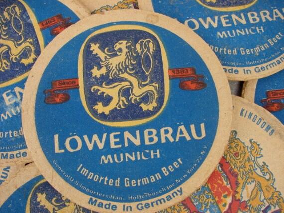 Vintage Lowenbrau Beer Coasters