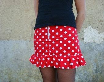 Rockabilly skirt polka dot cherry psychobilly rétro pin up punk burlesque custom tattoo lolita