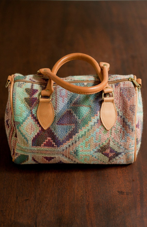 Vintage Southwestern Speedy Bag, Size Medium